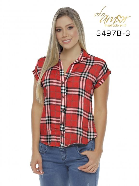 Blusa Colombiana - Ref. 246 -3497-3 Rojo