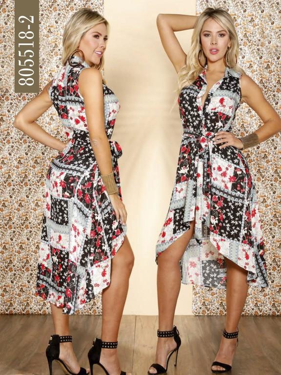 Vestido Colombiano - Ref. 266 -805518-2 Negro
