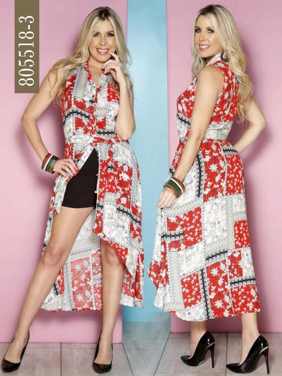 Vestido Colombiano - Ref. 266 -805518-3 Rojo