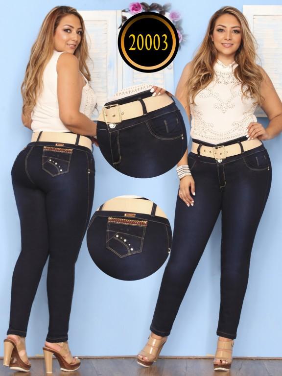 Jeans Levantacola Colombiano  - Ref. 274 -20003 Plus Size