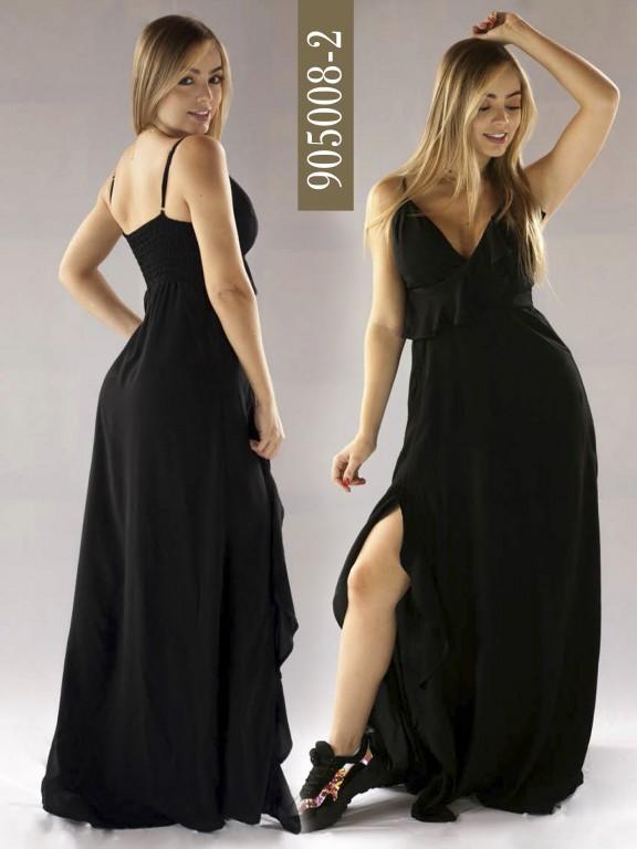Vestido Colombiano - Ref. 266 -905008-2 Negro