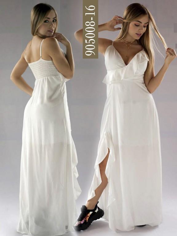 Vestido Colombiano - Ref. 266 -905008-16 Beige