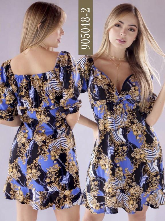 Vestido Colombiano - Ref. 266 -905048-2 Negro