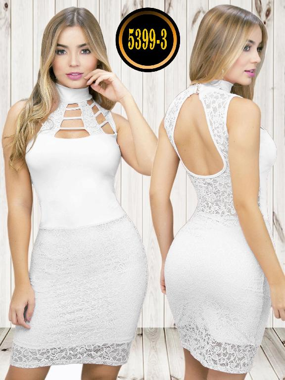 Colombian dress - Ref. 119 -5399-3 Blanco