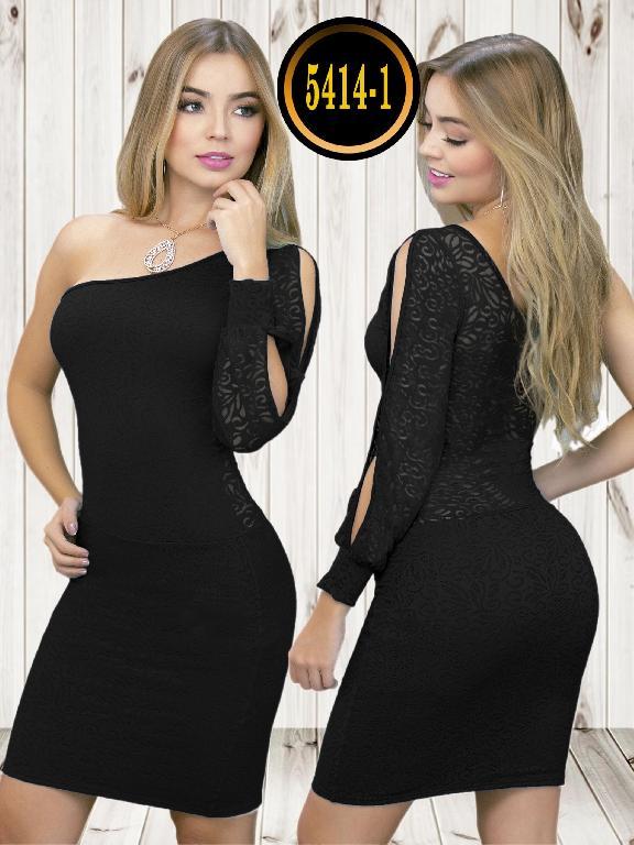 Colombian dress - Ref. 119 -5414-1 Negro