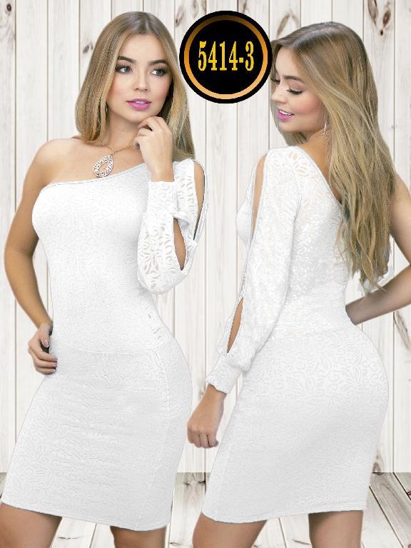 Colombian dress - Ref. 119 -5414-3 Blanco