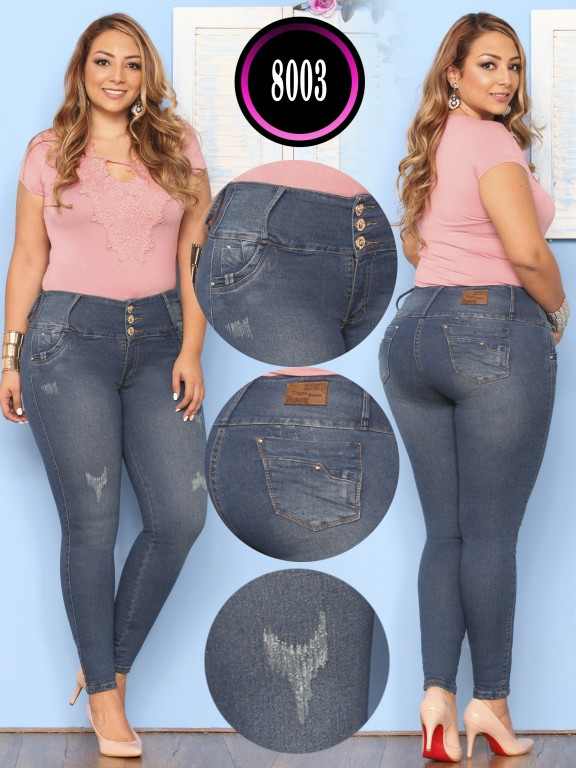 Colombian Butt lifting Plus Size Jean  - Ref. 119 -8003 Plus Size