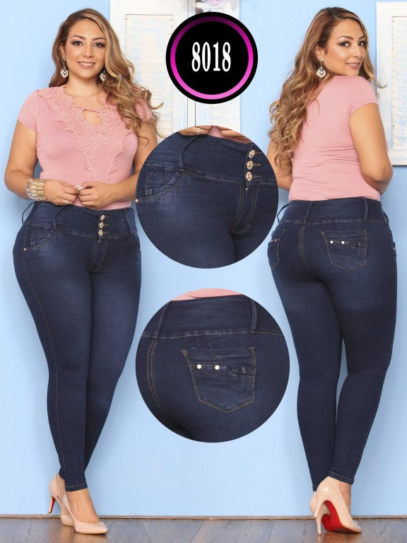 Colombian Butt lifting Plus Size Jean  - Ref. 119 -8018 Plus Size