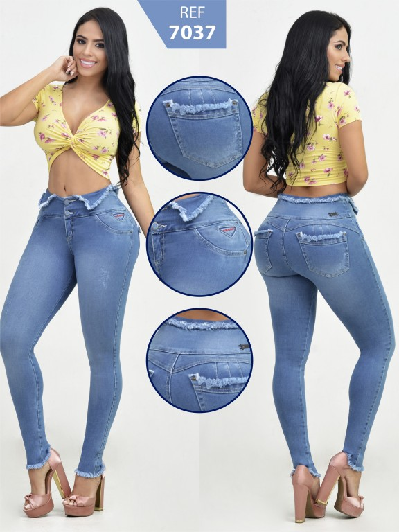 Jeans Colombiano Levantacola - Ref. 261 -7037-R