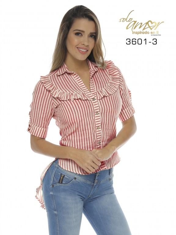 Camisa Colombiana - Ref. 246 -3601-3 Rojo