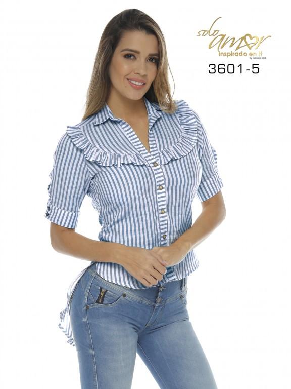 Camisa Colombiana - Ref. 246 -3601-5 Azul