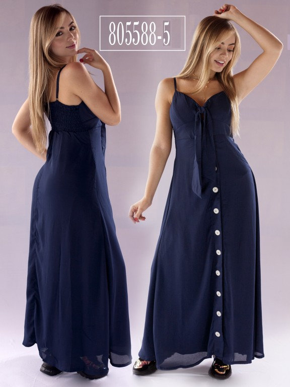 Vestido Colombiano - Ref. 266 -805588-5 Azul