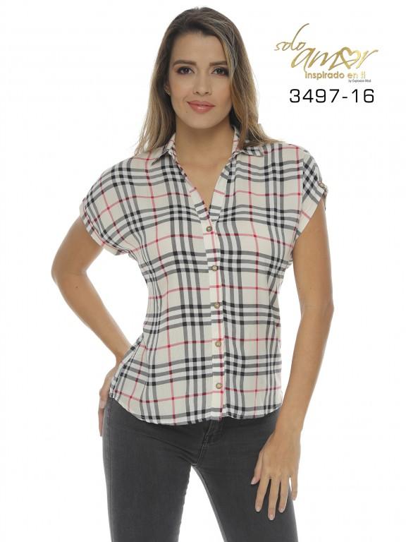 Blusa Colombiana - Ref. 246 -3497-16 Beige