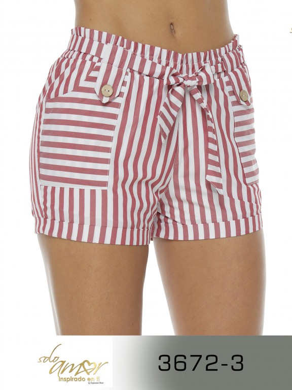 Short Colombiano - Ref. 246 -3672-3 Rojo