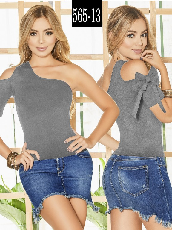 Blusa Colombiana - Ref. 268 -565-13 Gris