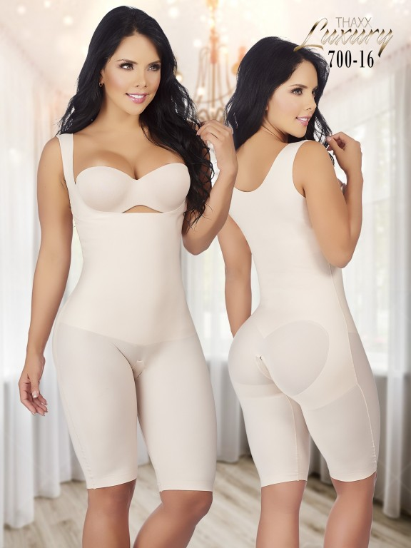 Thaxx Luxury Shapewear Short Bodysuit with Open Bust - Ref. 119 -700-16 PLUS