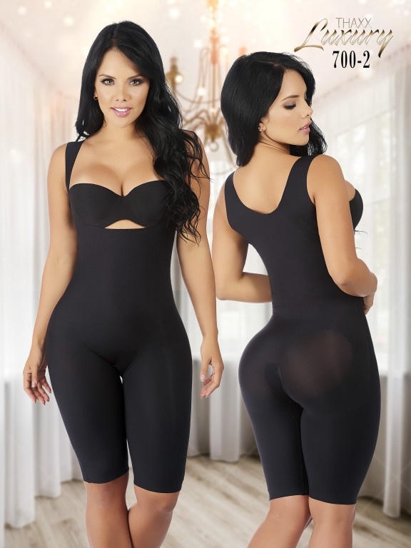 Thaxx Luxury Shapewear Short Bodysuit with Open Bust - Ref. 119 -700-2 Plus