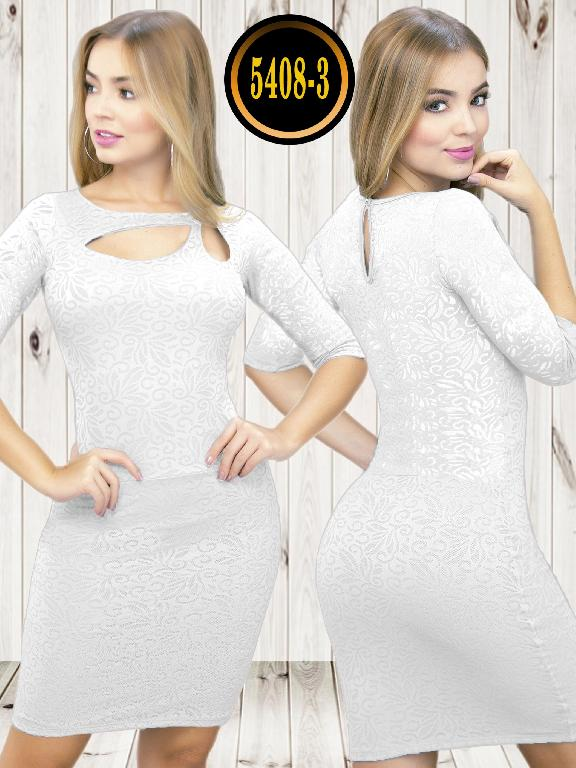 Colombian dress - Ref. 119 -5408-3 Blanco