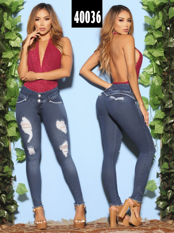 Jeans Levantacola Colombiano  - Ref. 269 -40036