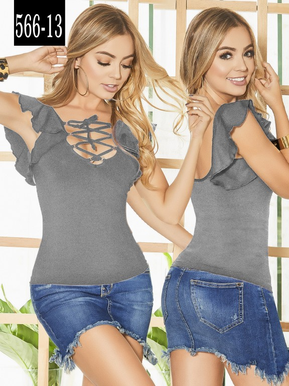 Blusa Colombiana - Ref. 268 -566-13 Gris