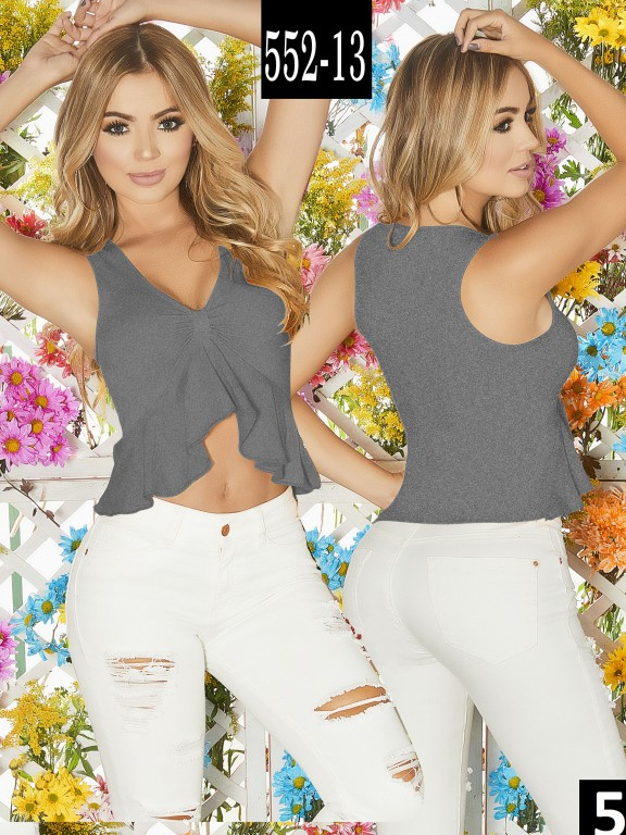 Blusa Colombiana - Ref. 268 -552-13 Gris
