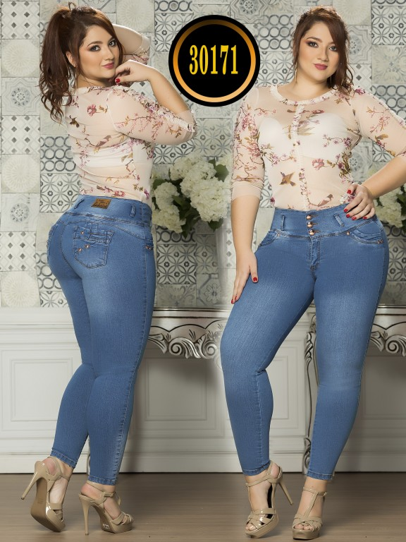 Colombian Butt lifting Plus Size Jean  - Ref. 119 -30171TE Plus Size