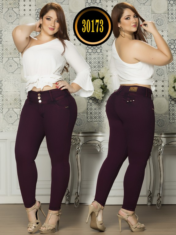 Colombian Butt lifting Plus Size Jean  - Ref. 119 -30173TE Plus Size