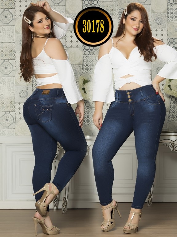 Colombian Butt lifting Plus Size Jean  - Ref. 119 -30178TE Plus Size