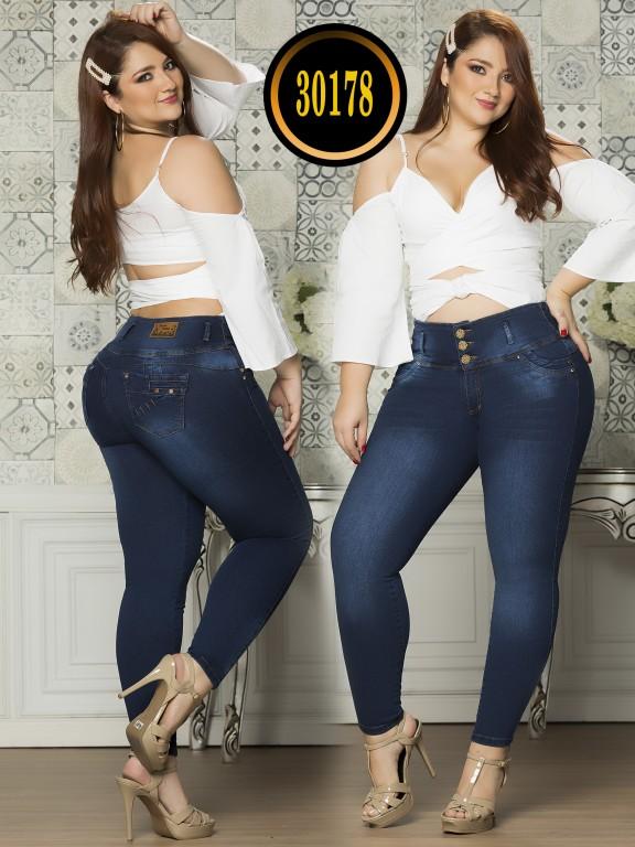 Jeans Levantacola Colombiano Plus Size - Ref. 119 -30178TE Plus Size
