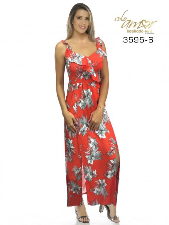 Vestido Colombiano - Ref. 246 -3595-6 Naranja