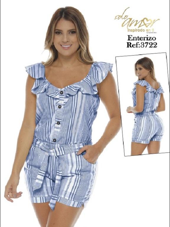 Enterizo Colombiano - Ref. 246 -3722-5 Azul