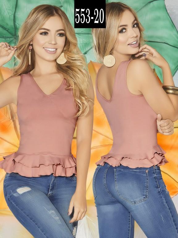 Blusa Colombiana - Ref. 268 -553-20 Rosado