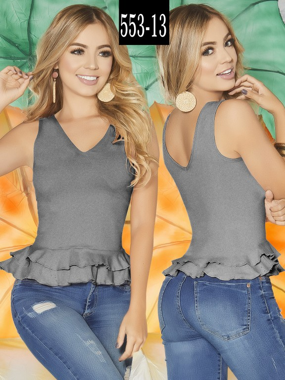Blusa Colombiana - Ref. 268 -553-13 Gris