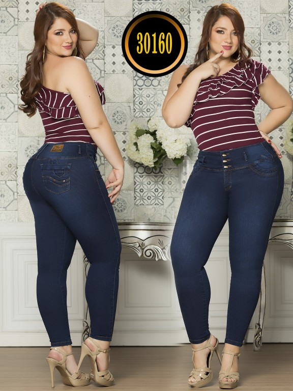 Colombian Butt lifting Plus Size Jean  - Ref. 119 -30160TE Plus Size