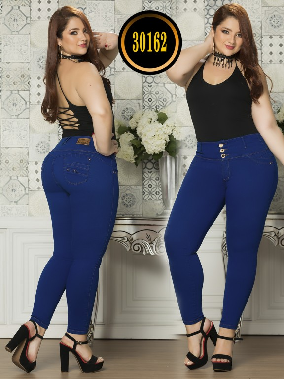 Colombian Butt lifting Plus Size Jean  - Ref. 119 -30162TE Plus Size