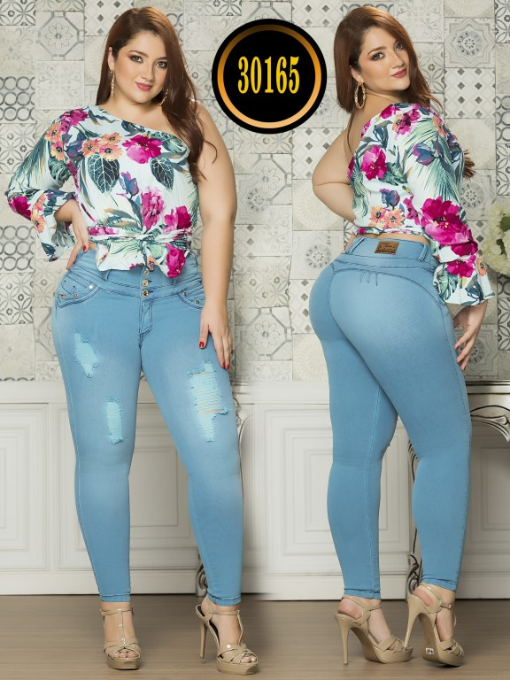 Colombian Butt lifting Plus Size Jean  - Ref. 119 -30165TE Plus Size