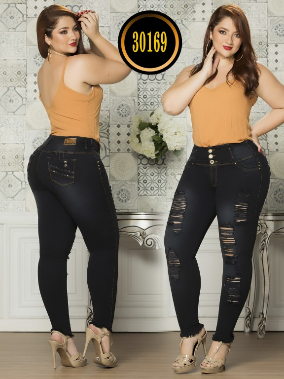 Colombian Butt lifting Plus Size Jean  - Ref. 119 -30169TE Plus Size