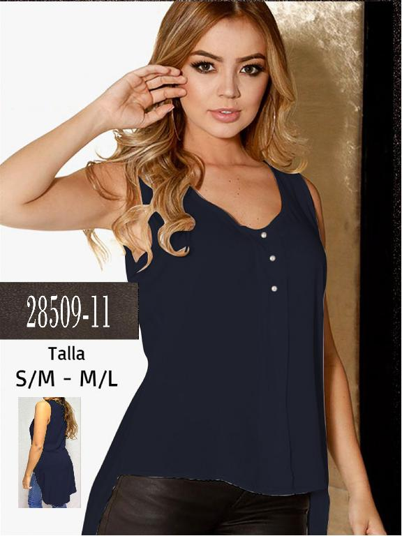 Blusa Colombiana - Ref. 266 -28509-11 Azul Oscuro