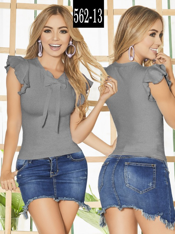 Blusa Colombiana - Ref. 268 -562-13 Gris