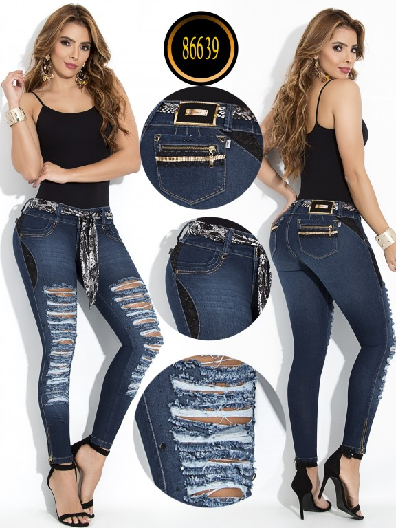 Jeans Levantacola Colombiano - Ref. 243 -86639-W