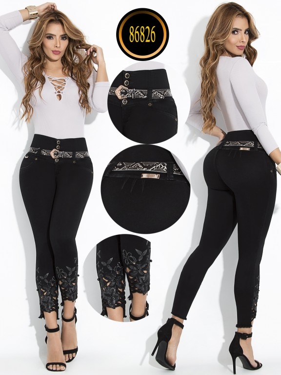 Jeans Levantacola Colombiano - Ref. 243 -86826-W
