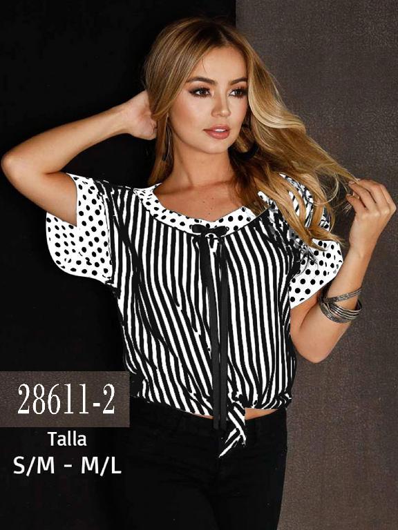 Blusa Colombiana - Ref. 266 -28611-2 Negro