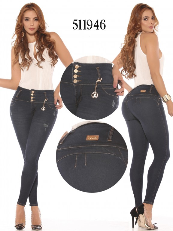 Jeans Levantacola Colombiano  - Ref. 260 -511946