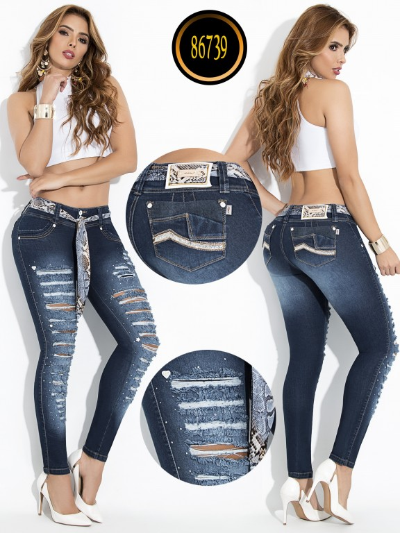 Jeans Levantacola Colombiano - Ref. 243 -86739-W