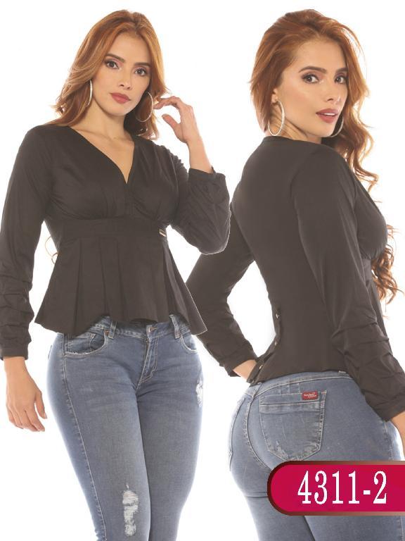 Blusa Colombiana - Ref. 252 -4311-2 Negro