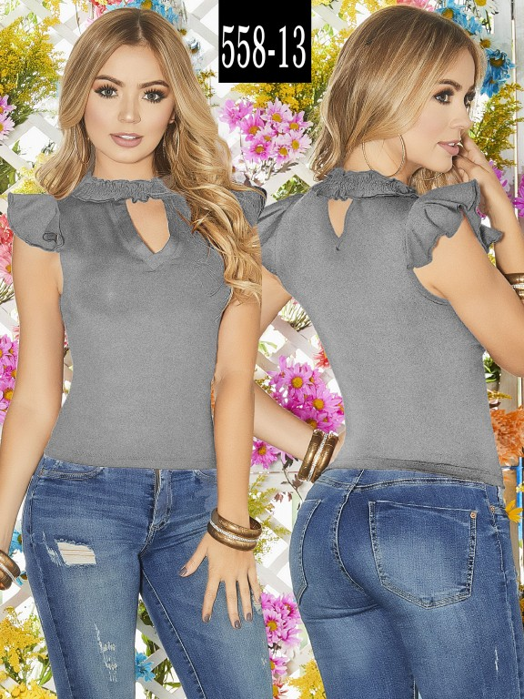 Blusa Colombiana - Ref. 268 -558-13 Gris