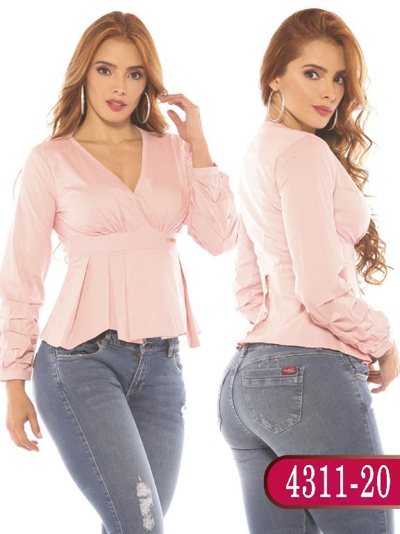 Blusa Colombiana - Ref. 252 -4311-20 Rosada
