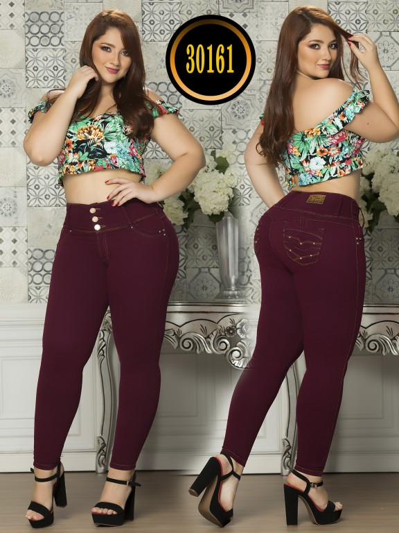 Colombian Butt lifting Plus Size Jean  - Ref. 119 -30161TE Plus Size