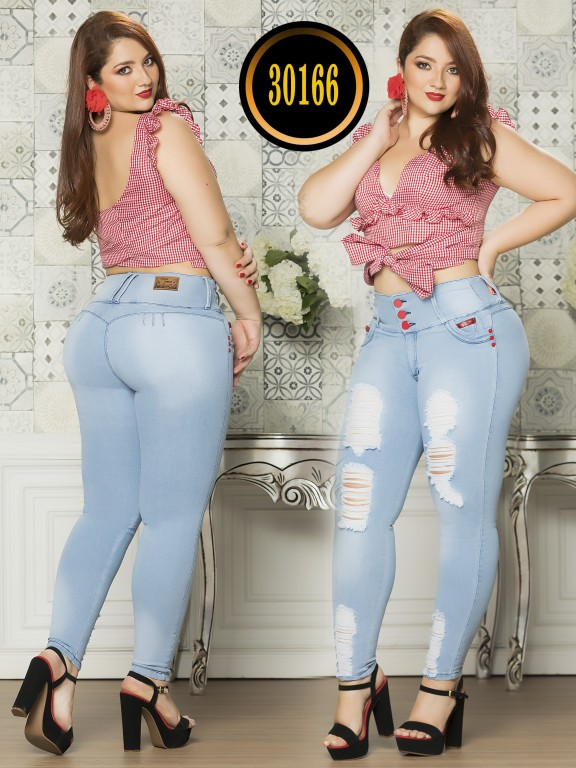 Colombian Butt lifting Plus Size Jean  - Ref. 119 -30166TE Plus Suze