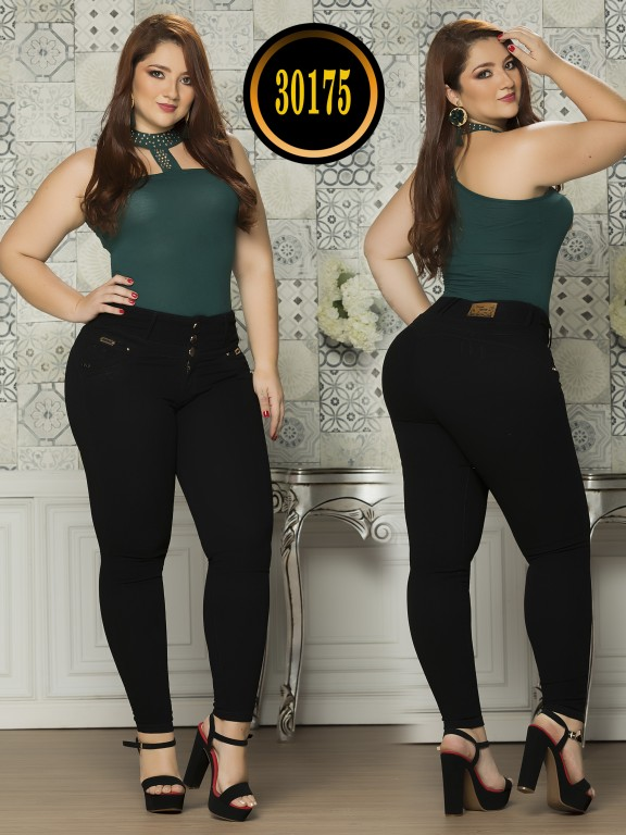 Colombian Butt lifting Plus Size Jean  - Ref. 119 -30175TE Plus Size
